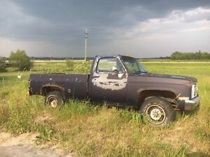 1983 gmc 2500 rolling chassis project truck