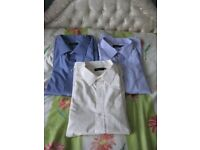 Three Double Two Label 21 Inch Short Sleeved Brand New Cotton Shirts - £5.00 each