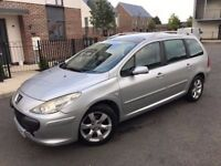 Peugeot 307 SW 1.6 HDi S 5dr,Diesel,2005,Estate,2 owners,panoramic roof,hpi clear