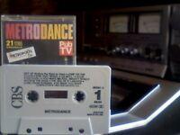 VARIOUS ARTISTS - METRODANCE PRERECORDED CASSETTE TAPE 1990 CBS467001 - 21 classic dance party hits