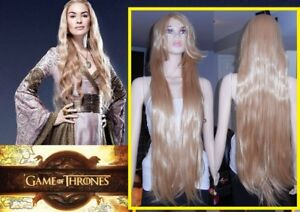 NEW: 100cm Blonde Game of Thrones CERSEI LANNISTER Wig