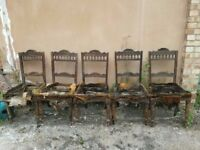 Five Victorian Dining Chairs (Up-cycling project)
