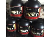 BRAND NEW Optimum Nutrition Gold Standard 100% Whey 2.27kg 5lbs Protein Shake