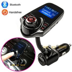 Bluetooth in-car transmitterand charger handsfree calls! Sd card,aux(can be linked with your mobile)