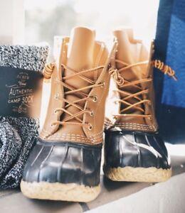 L.L.BEAN DUCK BOOTS-LIKE BRAND NEW! Retails $160+