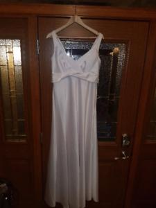 New White Satin Gown