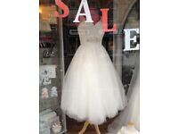 Beautiful tea dress length wedding dress size 12