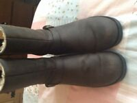 Ladies leather ugg boots