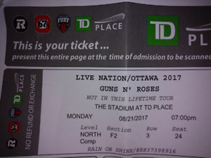 Guns N' Roses Tickets Ottawa