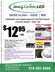 KIDDE / BRK SMOKE ALARM , SMOKE+CO, STROBE, 2-IN-1, 3-IN-1 ALARM