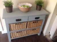 Farm house style sideboard with baskets