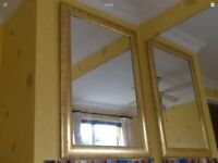 "Metal Mirror is About 35"" X 25"" Or 88cm X 63cm gold colour frame"