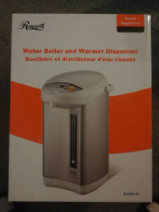 Hot water boiler and dispenser