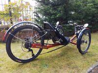 KMX Cobra Recumbent Tricycle/Bicycle