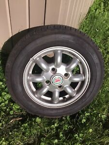 "Austin rover mini copper wheels 12"" Yokohama tires 145/70r12"