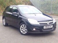 2008 (Aug 08) VAUXHALL ASTRA 1.8 VVT ELITE - Hatch 5 Dr - Petrol - Manual - BLACK *LEATHERS/FSH/MOT*