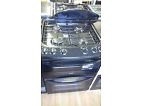 ZANUSSI black 60Cm Gas Cooker in Ex Display