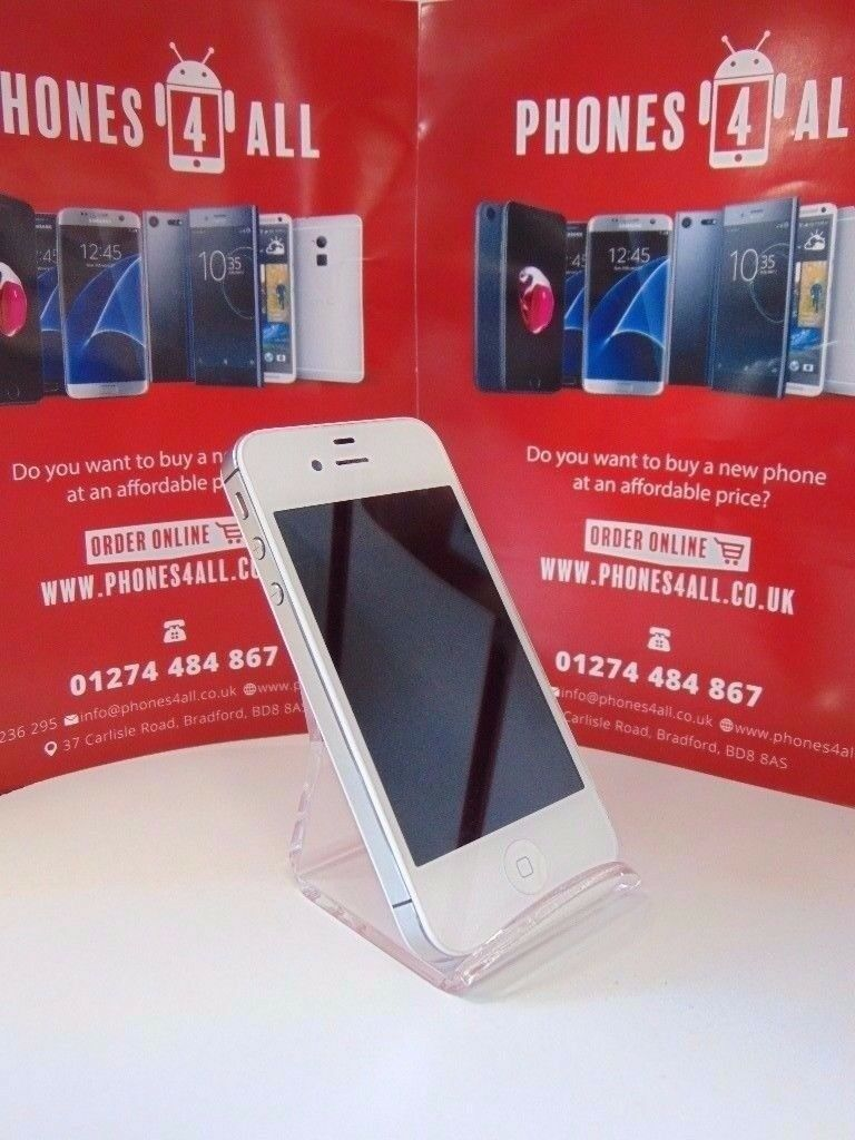 iPhone 4s White Unlockedin Bradford, West YorkshireGumtree - iPhone 4s white Unlocked 8gb Like new condition Many More Phones, Tablets and Laptops In Stock Receipt Provided With Shop Warranty Open to swaps at trade price 01274 484867 07546236295 Phones 4 All 37 carlisle road Bd8 8as