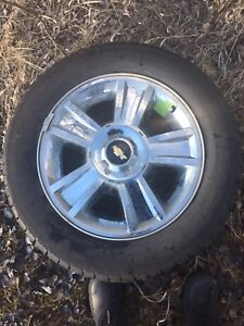"""20"""" Chevy Rims and tires."""