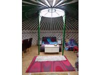 Authentic Mongolian Yurt - 6 metre diameter - Green Several colours available