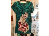 Never worn ladies butterfly woolly top / dress size M-L