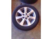 "**WHEEL 10** 2009-2013 MAZDA 3 BL TS2 16"" ALLOY WHEEL WITH TYRE 205/55/R16"