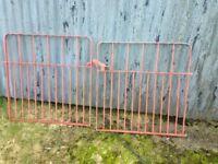Pair of Galvanised Garden Gates