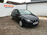 2010 SEAT IBIZA 1.2 12v SPORT COUPE S 3DR,52000 MILES WITH FULL SERV HISTORY