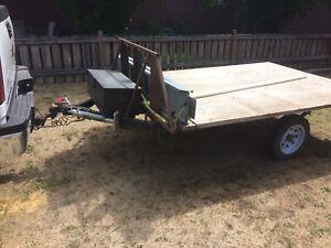 Flat deck utility/atv trailer
