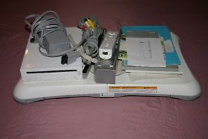 Wii system and balance board