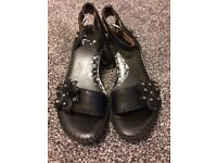Clarks leather sandals 4.5 BN