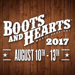 Boots and Hearts 2017 General Admission Festival Wristband