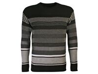Diesel Black Gold Black Striped Kollaudo Sweater (new with tags)