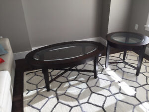 One Coffee Table & One End Table - As New