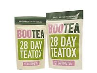 Bootea weight loss detox tea daytime and bedtime 28 day plan x 2! 4 pouches in total