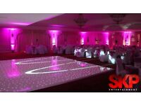 WHITE LED STARLIT DANCE FLOOR for hire upto 20ft x 20ft! Best prices Guaranteed!