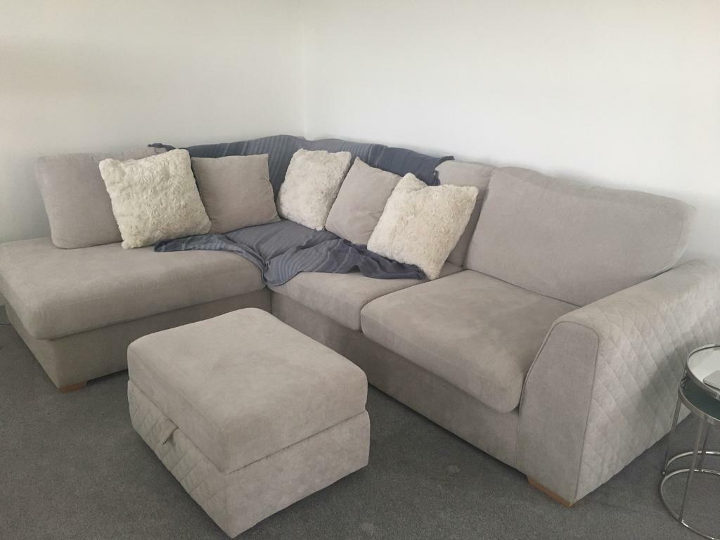 Eleanor Dfs Right Hand Corner Sofa With Footstool In Mansfield