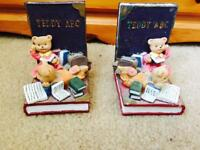 Teddy ABC Bookends
