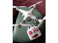 Syma X8C drone + 3 batteries and camera holder