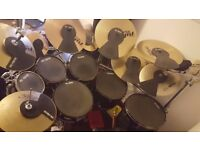 TAMA Superstar Hyperdrive - 6 piece drumkit - matt black with paiste cymbals + more