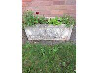 Stone garden planter trough