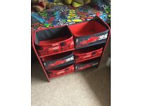 Disney Cars toy Storage canvas shelves ***immaculate***