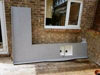 Free ex display Corian kitchen worktop.