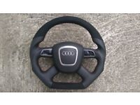AUDI A3 A4 A5 A6 Q7 A8 NEW CUSTOM MADE STEERING WHEEL