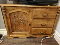 solid wood side unit