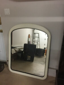 Large mirror with white frame