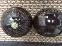 TYROLITE Taylor Rolph bowls x2 size 4.7/8