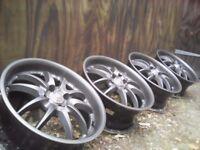 "4x100 Alloy Wheels 17"" Mini/Vauxhall/Rover/Mg/Honda"