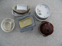 selection of baking dishes