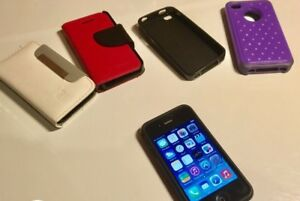 iPhone 4 16GB with cases